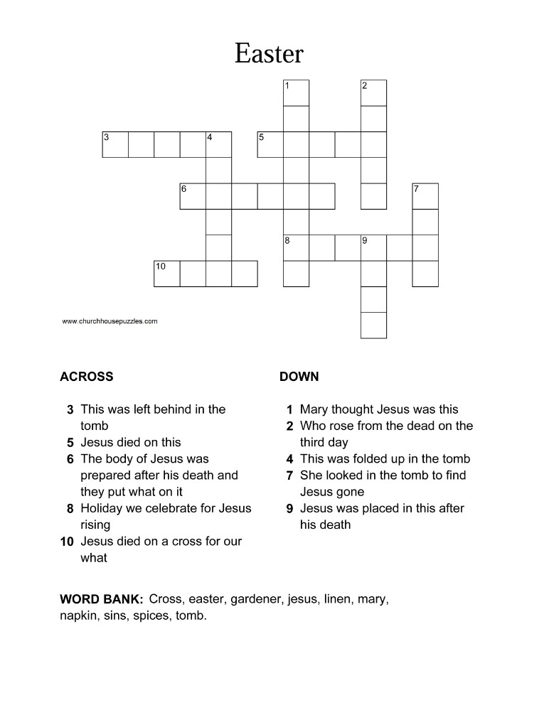 Pics Photos - Printable Easter Bible Word Puzzle